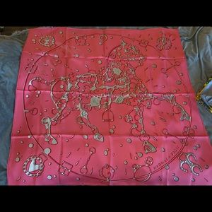 Hermes Chevalier Fusion 90cm silk scarf in pink
